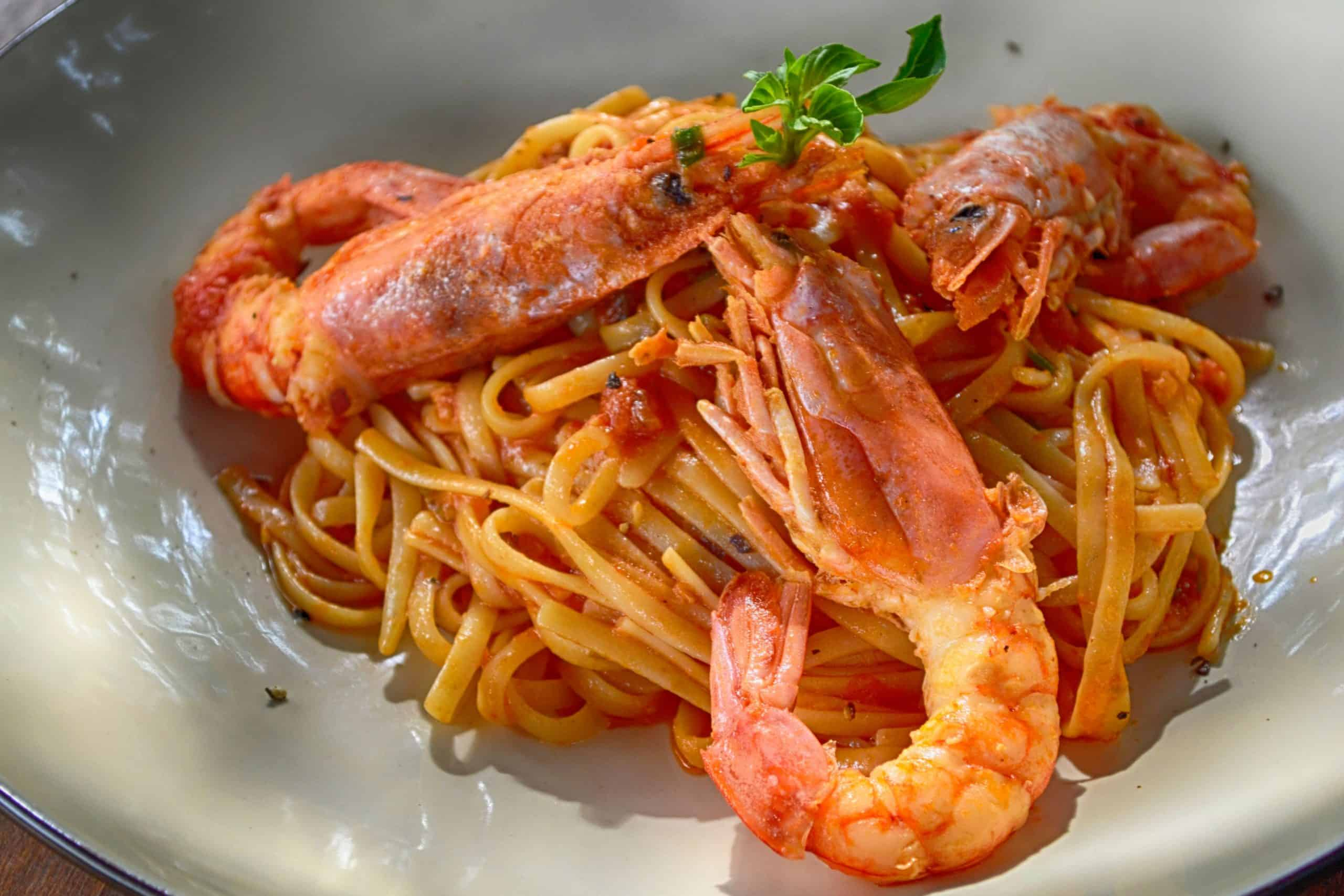 King Prawns with noodles
