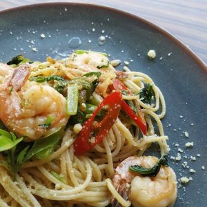 Chill Prawn Spaghetti Recipe